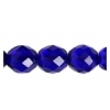Fire polished 10mm Cobalt Blue